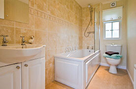 Residential park home bathroom